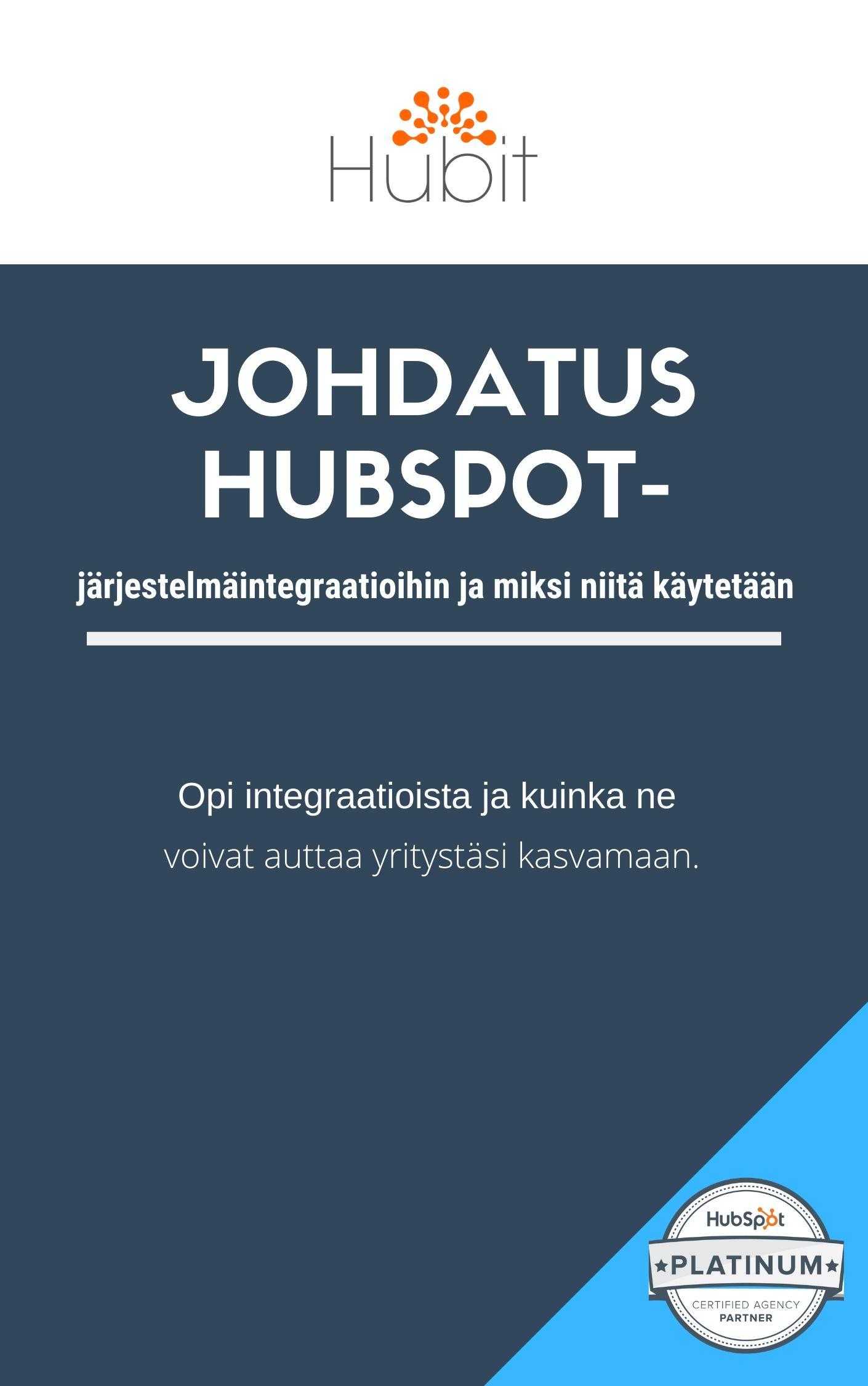 Johdatus HubSpot järjestelmäintegraatioihin